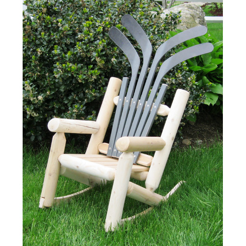Ski Chair Hockey Stick Children's Solid Wood Adirondack Chair