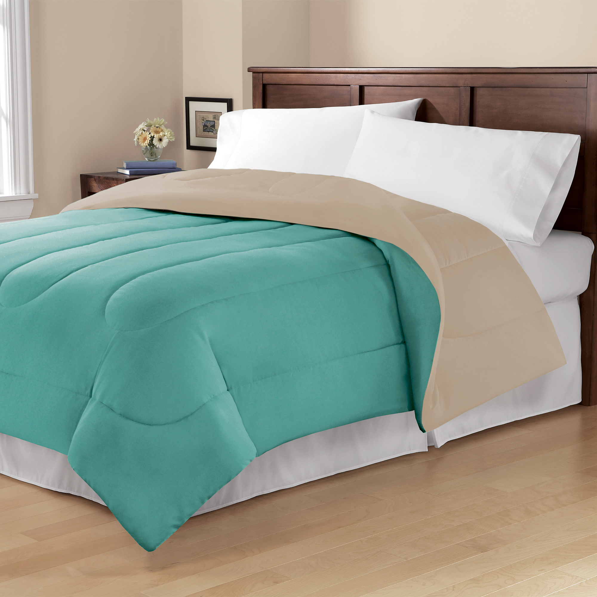 Mainstays Solid Reversible Bedding Comforter
