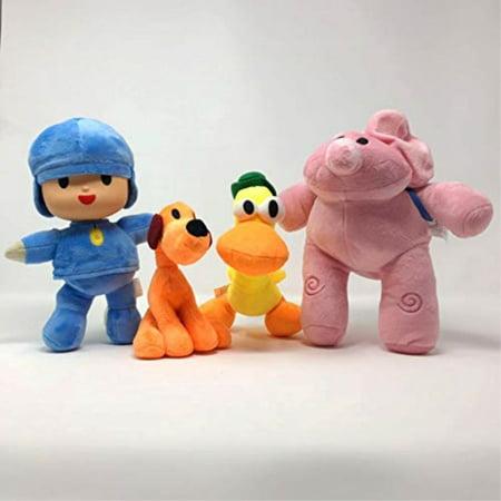 warehousedeals inspired by pocoyo plush toys doll stuffed soft- pocoyo loula elly pato - set 4pcs 14cm-30cm Soft Toy Set