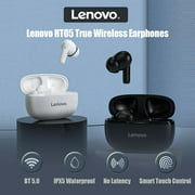 Lenovo HT05 BT5.0 Wireless Earphones In-Ear Earbuds with Smart Touch Control/IPX5 Waterproof/Noise Reduction/Binaural HD Call/3.7g Lightweight Headset