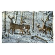 """Snow Deer Microfiber Fleece Blanket - 36"""" X 58"""""""