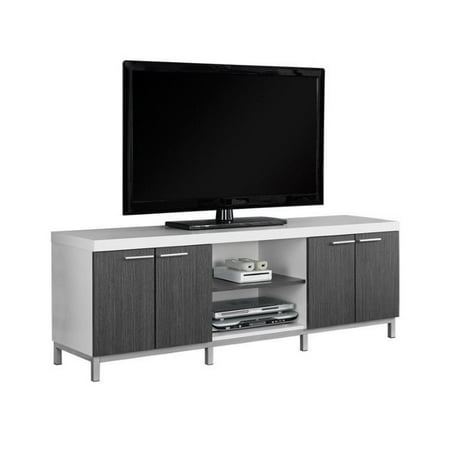 MONARCH - TV STAND - WHITE / GREY - FOR TVS UP TO 60u0022L
