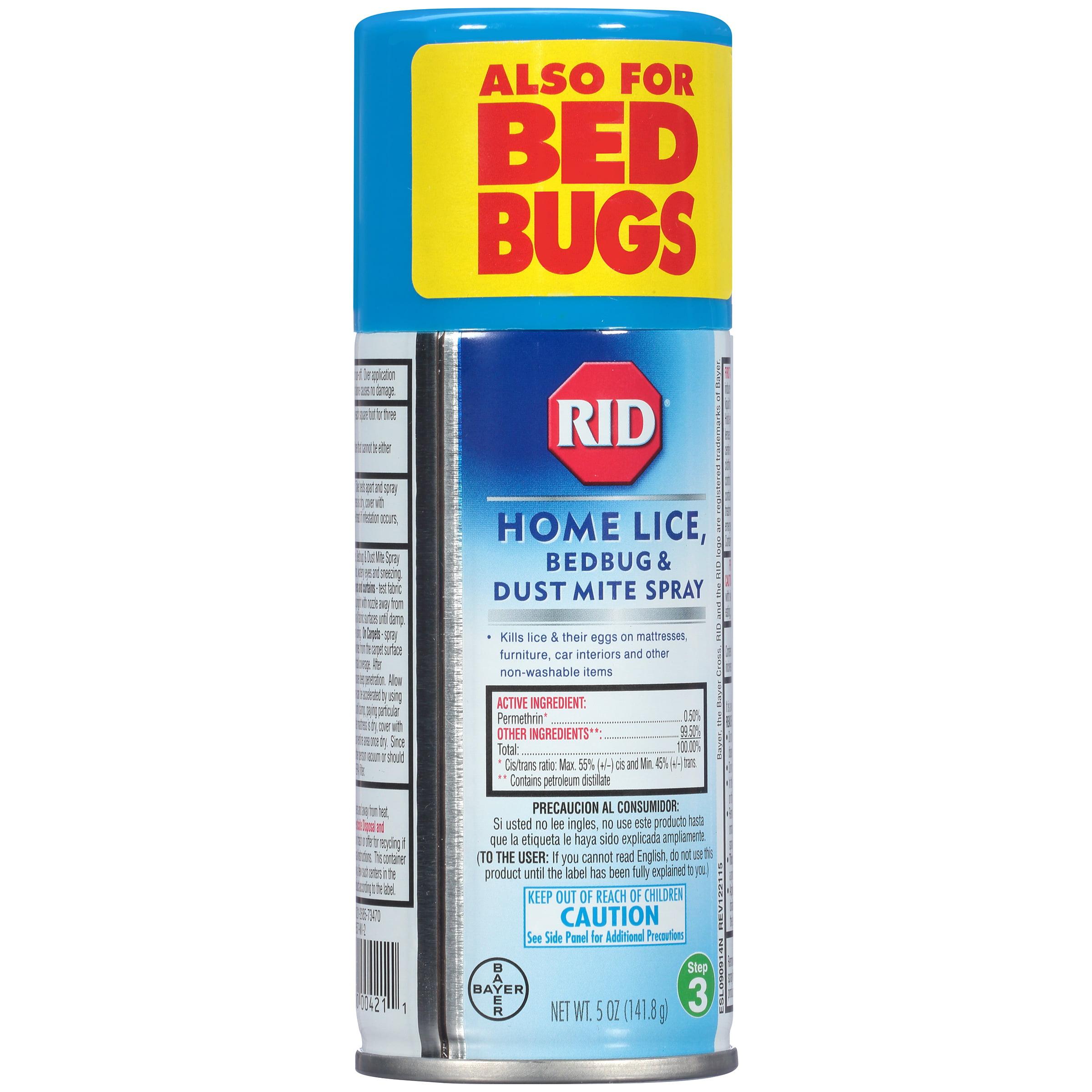RID® Home Lice Bedbug & Dust Mite Spray 5 oz. Aerosol Can