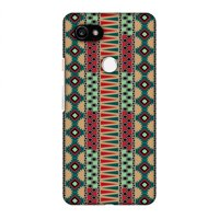 Google Pixel 2 XL Case - Tribal stripes- Sand yellow, Hard Plastic Back Cover, Slim Profile Cute Printed Designer Snap on Case with Screen Cleaning Kit