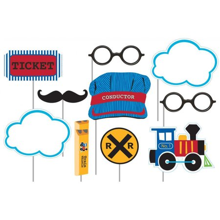 Creative Converting All Aboard Train Photo Booth Props, 10 ct](Creative Photo Props)