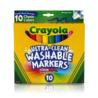 Crayola Ultra-Clean Washable Broad Line Markers, 10 Count (2 Pack)
