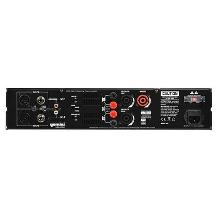 GCI TECHNOLOGIES XGA2000 2000 Watts Professional Power Amplifier - image 2 of 10