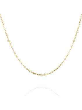 Gold chain necklaces walmart 10k yellow gold french rope necklace 18 074 mozeypictures Choice Image