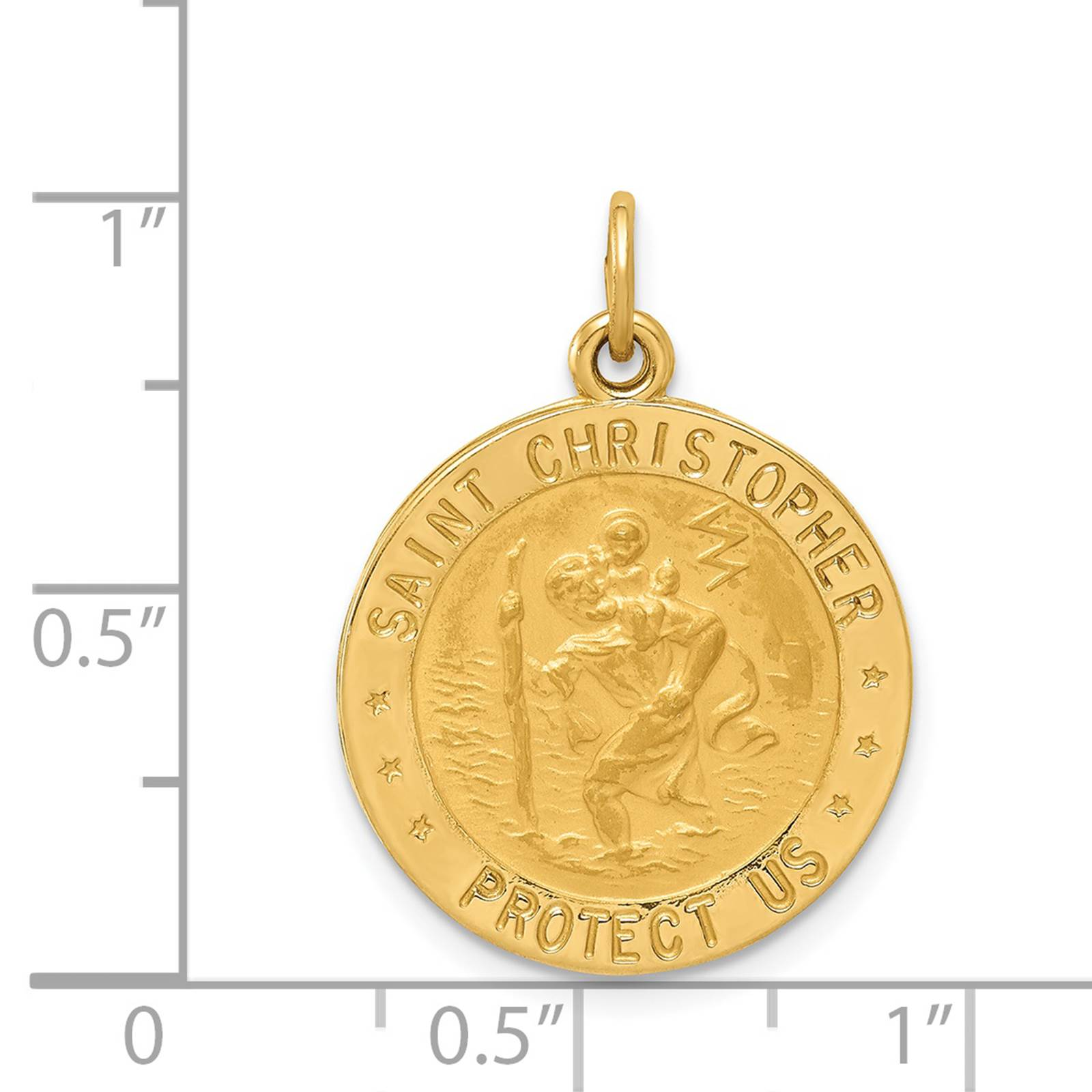 Details about  /Real 10kt Yellow Gold Polished Floral Charm Holder