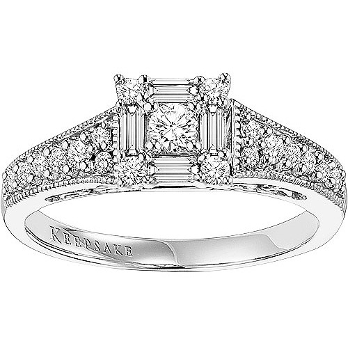 Keepsake Sincerity 1/2 Carat T.W. Diamond 10kt White Gold Engagement Ring
