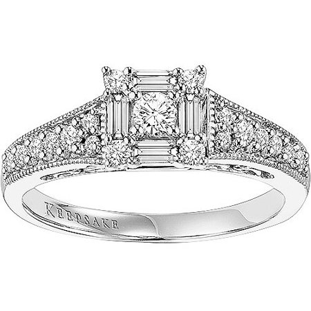 Keepsake Sincerity 1/2 Carat T.W. Diamond 14kt White Gold Engagement Ring