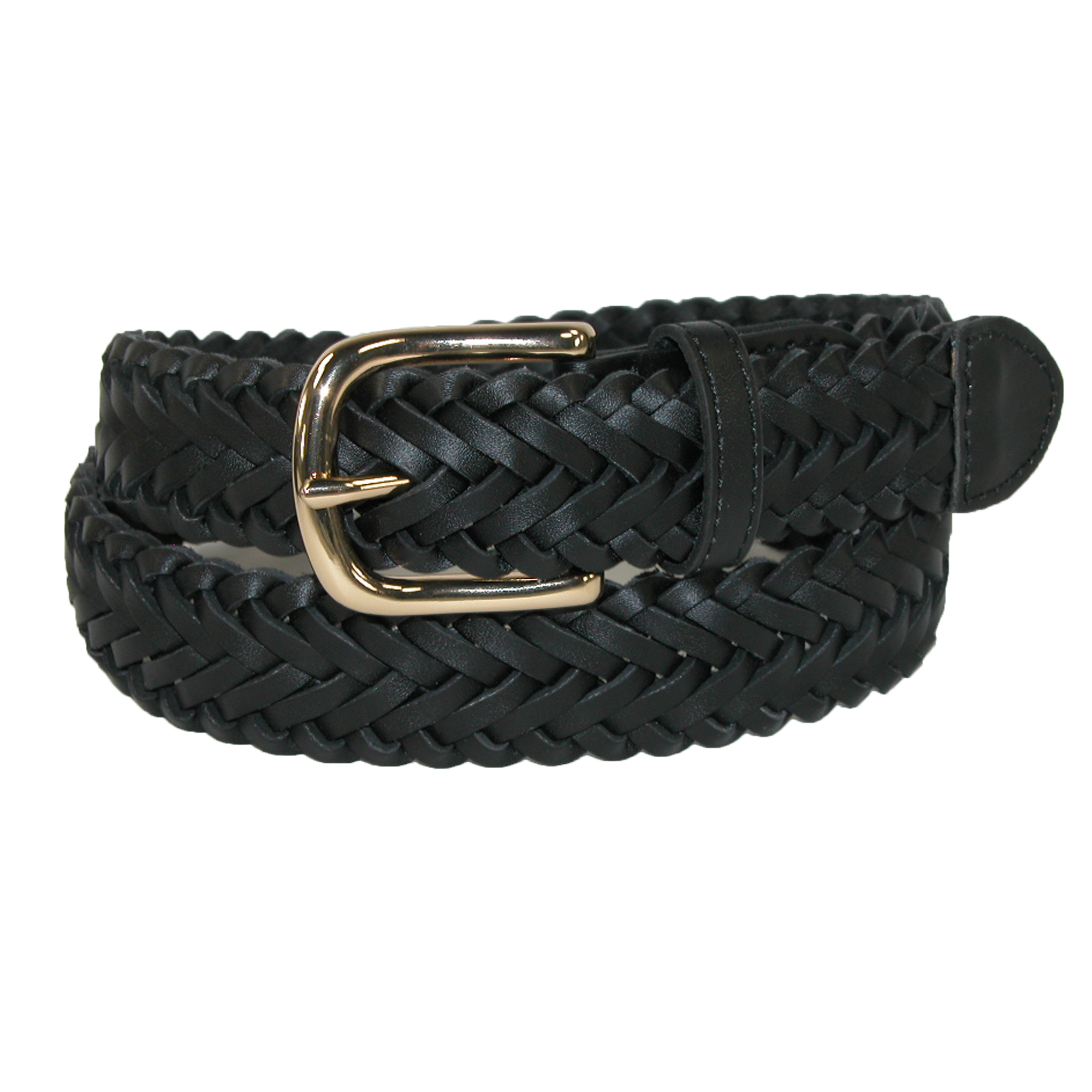 Aquarius  Boys' Leather Braided Uniform Dress Belt (Pack of 2)