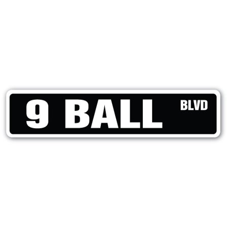 Ball Billiards Neon Sign - 9 BALL Street Sign billiards pool cue pooltable darts | Indoor/Outdoor |  24