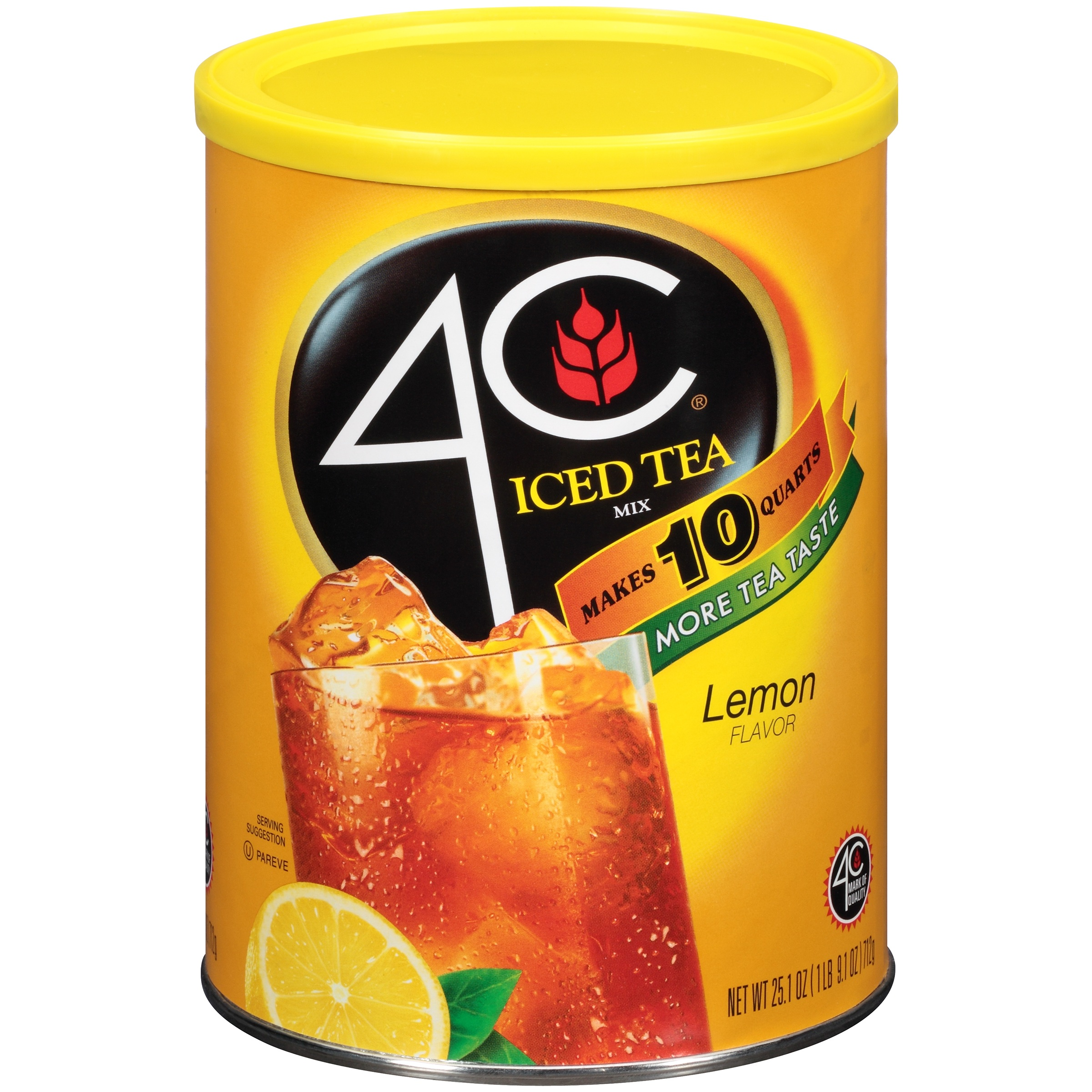 4C Drink Mix, Lemon Iced Tea, 25.1 Oz, 1 Count