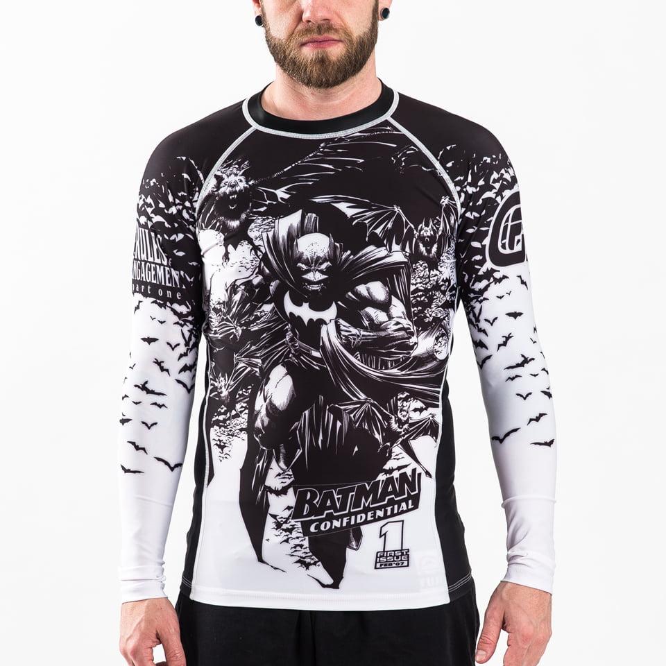 Batman Confidential Noir Rash Guard Compression Shirt X- Large