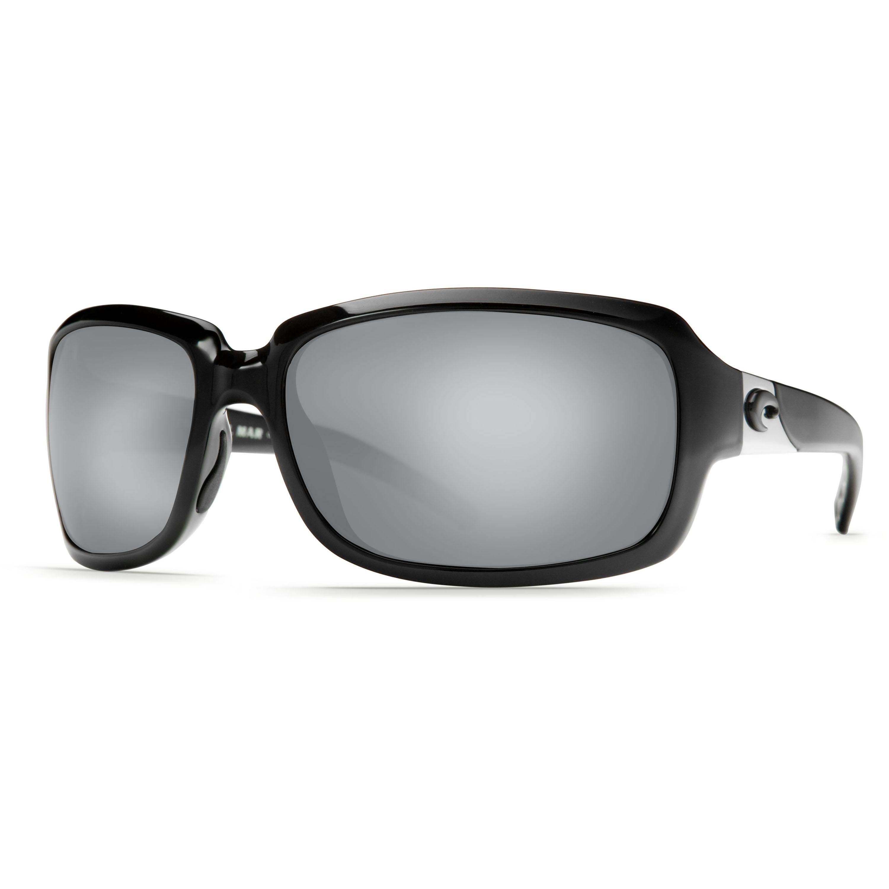 Isabela, Silver Mirror 580P, Shiny Black Frame