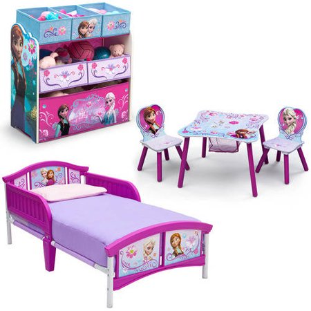 Disney Frozen Bedroom Set with BONUS Toy Organizer