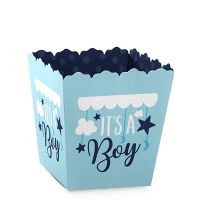 Baby Shower Treats (It's a Boy - Party Mini Favor Boxes - Blue Baby Shower Treat Candy Boxes - Set of)