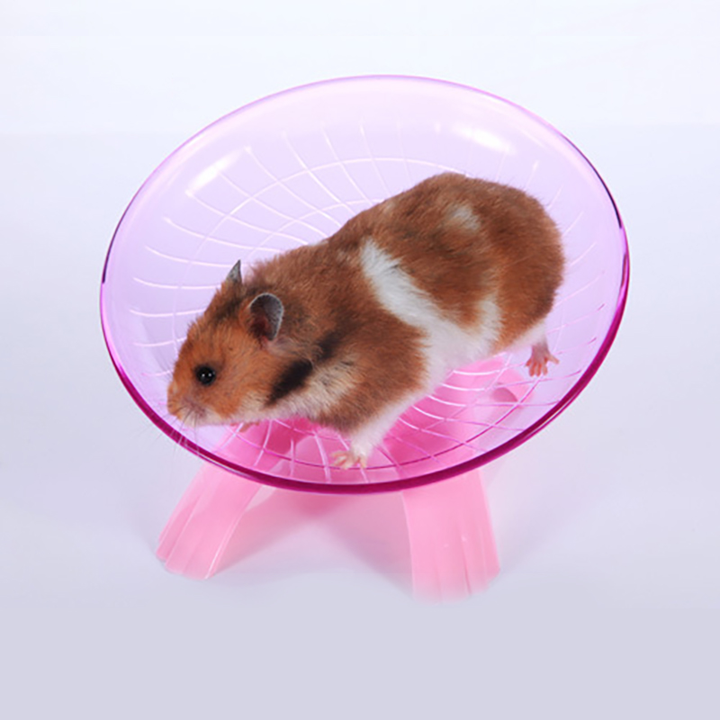 Flying Saucer Exercise Wheel for Small Pets, 18 cm 7.09 inch Hamsters Running Disc, Comfort Pet Toys by