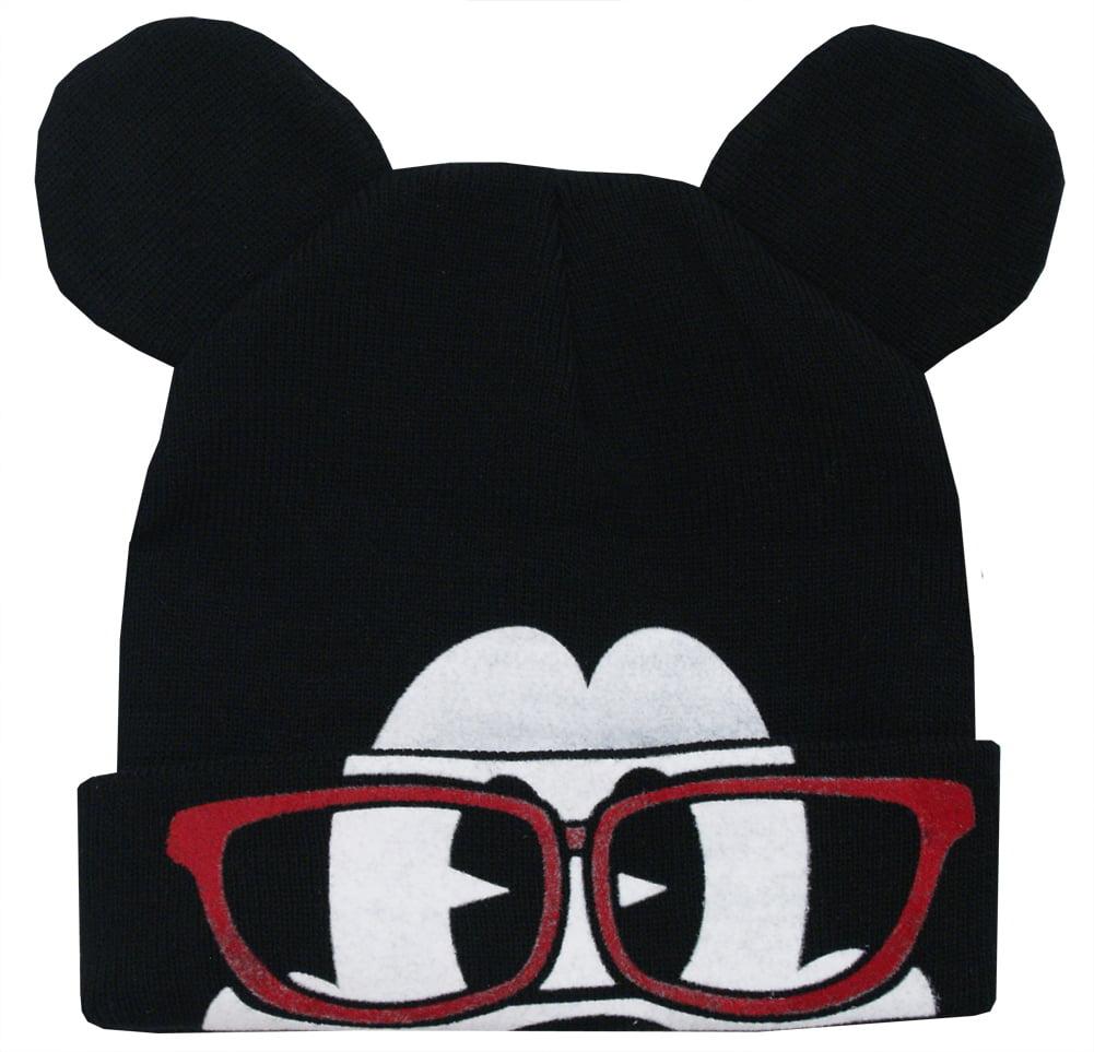 Disney - Mickey Mouse Disney Glasses Flip-Down Cuff Wink Adult Winter Knit  Beanie Hat - Walmart.com 4e92657dc2c