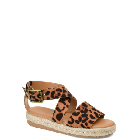 Brinley Co. Womens Crossover Espadrille Sandal