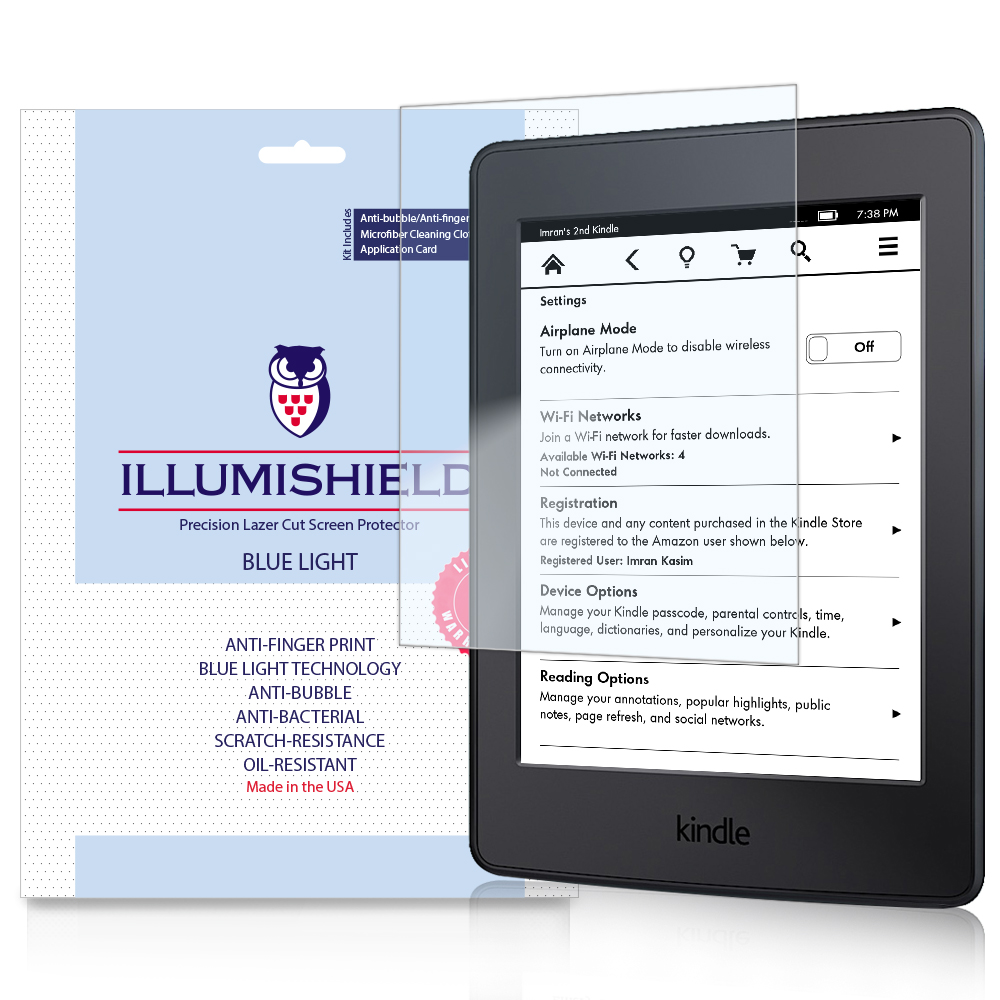 iLLumiShield UV Blue Light Screen 2x Amazon Kindle Paperwhite 6