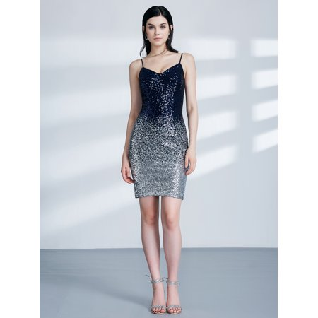 Ever-Pretty Womens Sexy Sequins Evening Night Out Clubwear Cocktail Party Mini Dresses for Women 04109 US 4