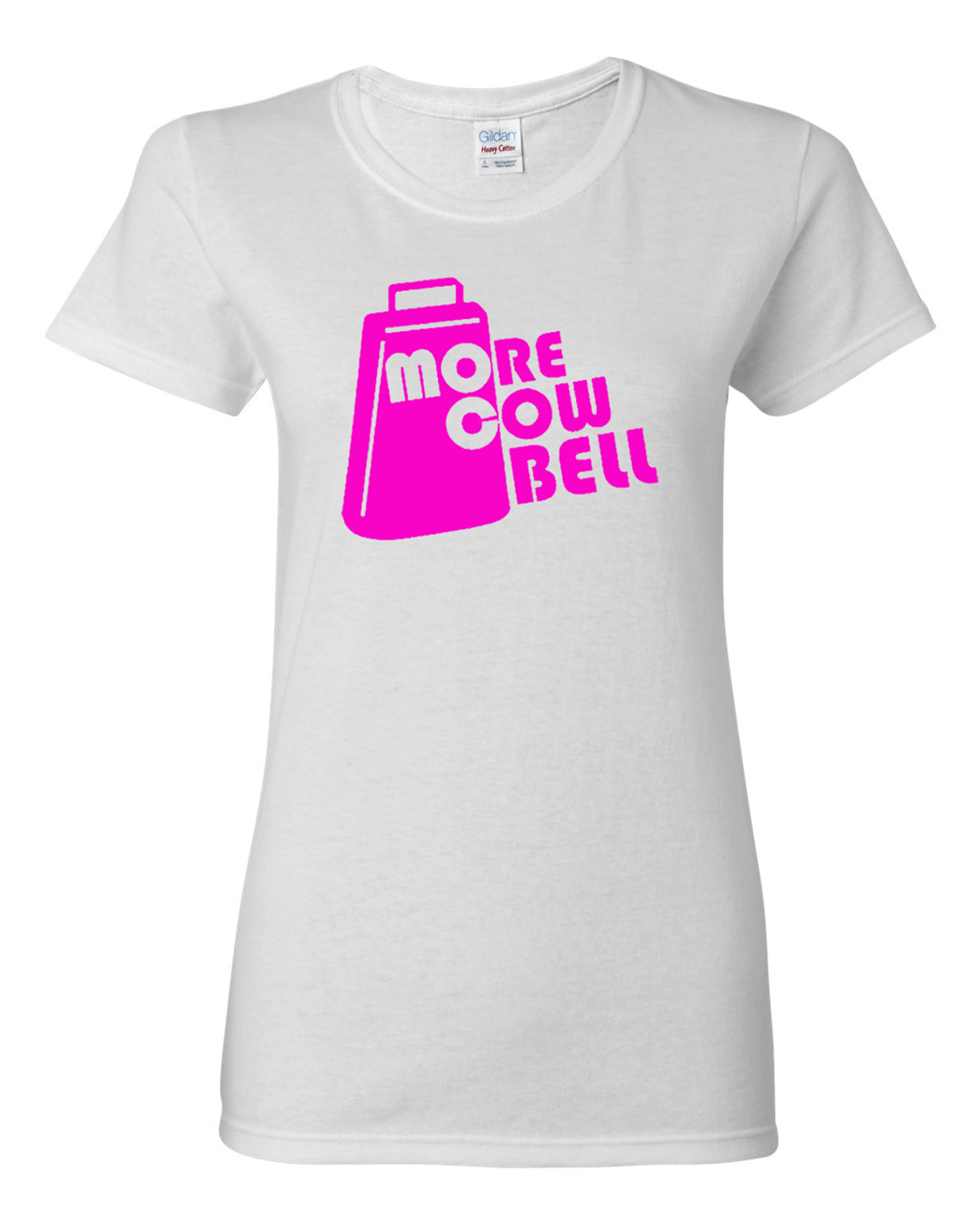 Ladies More Cowbell Music Funny Humor T-Shirt Tee