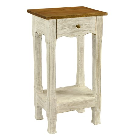 Porthos Home Amelia Distressed Rustic Nightstand