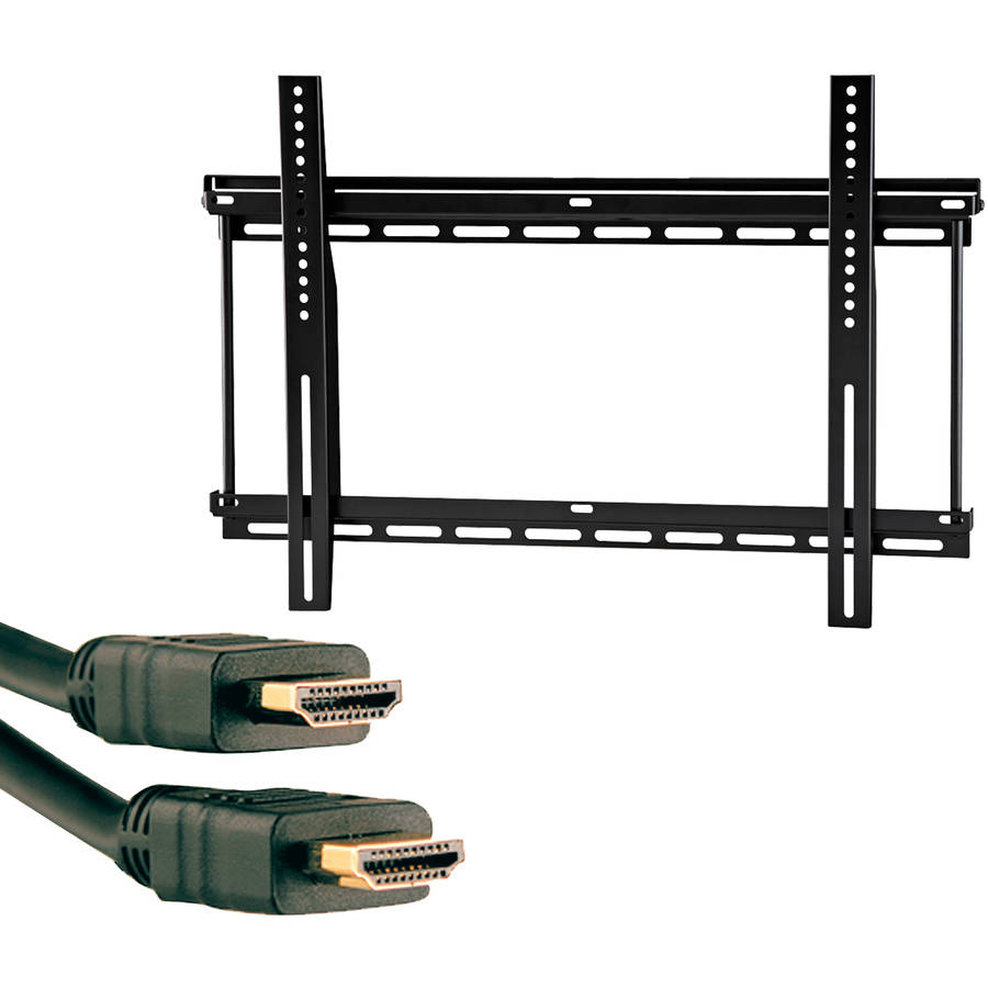 "Omnimount OC175F 37""-90"" OmniClassic Fixed Mount and Axis 41204 High-Speed HDMI Cable with Ethernet, 9'"