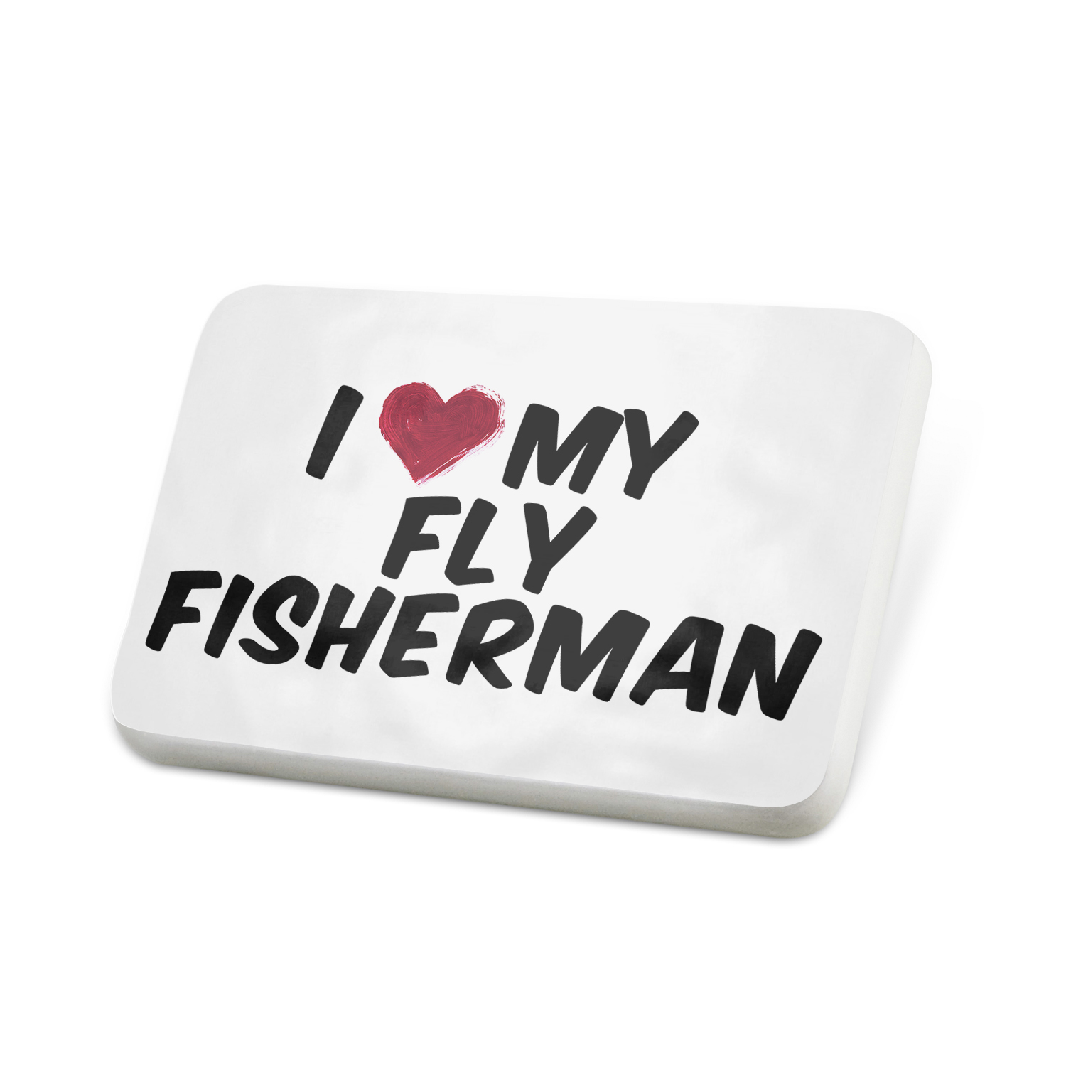 Porcelein Pin I heart love my Fly Fisherman Lapel Badge – NEONBLOND