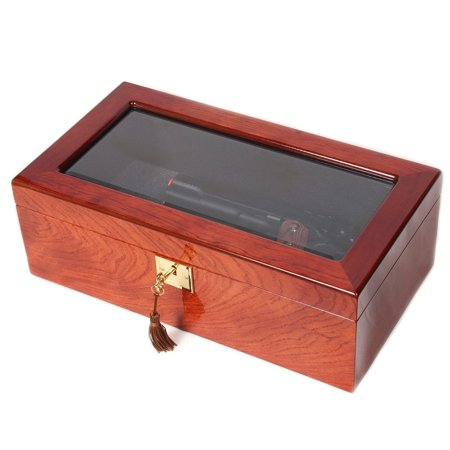 Rosewood Veneer Glass Multi Use Collector Box (Glass Veneer)