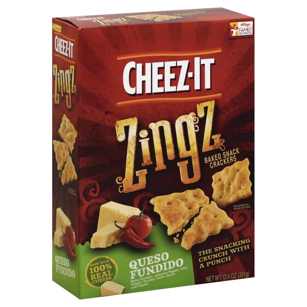 Cheez-It Zingz Queso Fundido Baked Snack Crackers, 12.4 oz