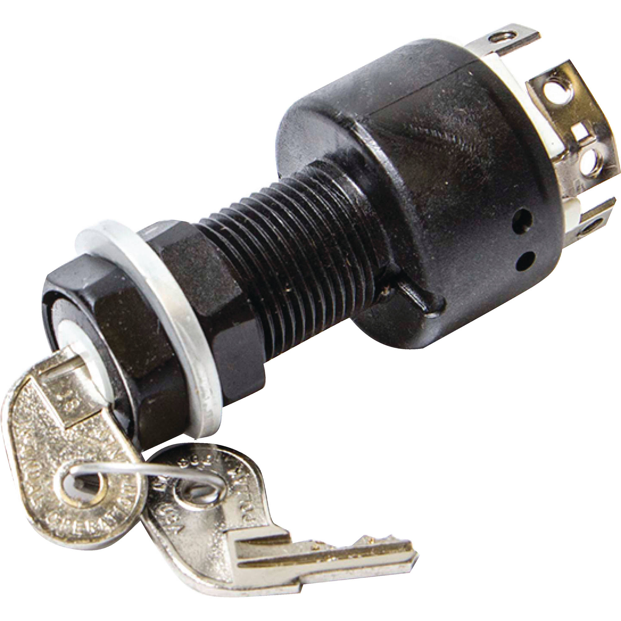 "Sierra Magneto 3-Position 1-1/8"" Polyester 6 Screw Terminal 12V 15 Amp Ignition Starter Switch"