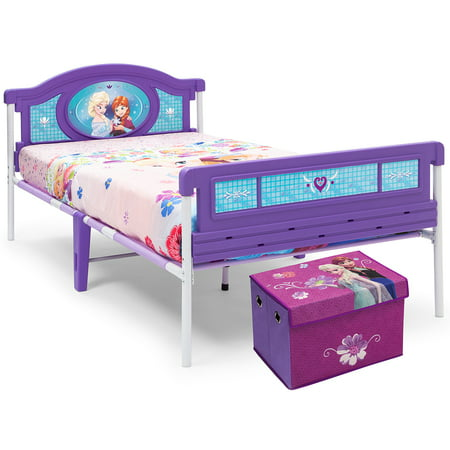 Helen Of Troy Bed (Delta Children Disney Frozen Twin Bed with BONUS Fabric Toy Box )