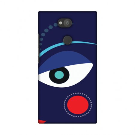 Sony Xperia L2 Case, Premium Handcrafted Designer Hard Shell Snap On Case Printed Back Cover with Screen Cleaning Kit for Sony Xperia L2, Slim, Protective - Divine Goddess - Blue - Goddess Blue