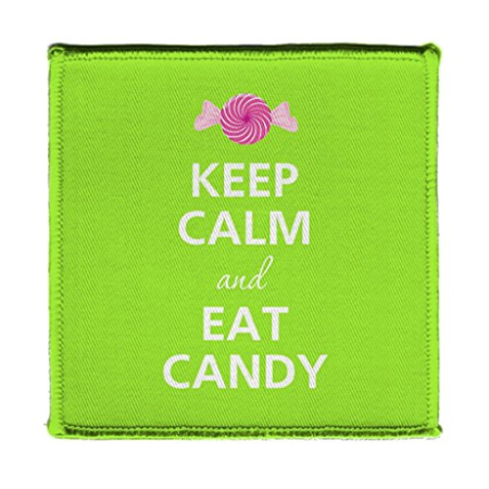 Shark Candy (Keep Calm AND EAT CANDY HARD CANDY WITH WRAPPER - Iron on 4x4 inch Embroidered Edge Patch)