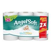 Angel Soft Toilet Paper, 12 Jumbo Rolls, Bath Tissue