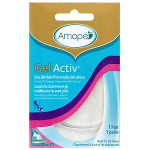 Amope GelActiv Ultra Slim Ball of Foot Insoles for Women, 1 pair, Size 5-10