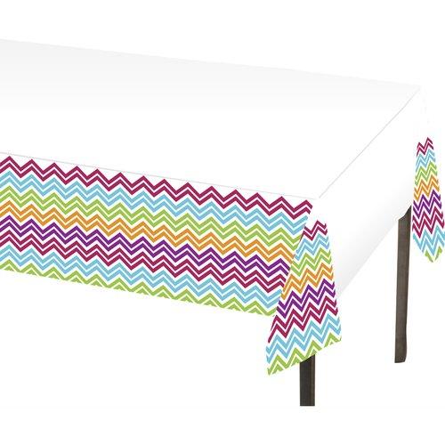 Creative Converting Chevron Plastic Table Cover