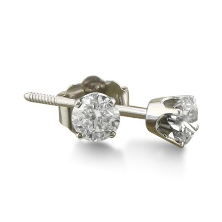 - 1/5ct Diamond Stud Earrings in Sterling Silver