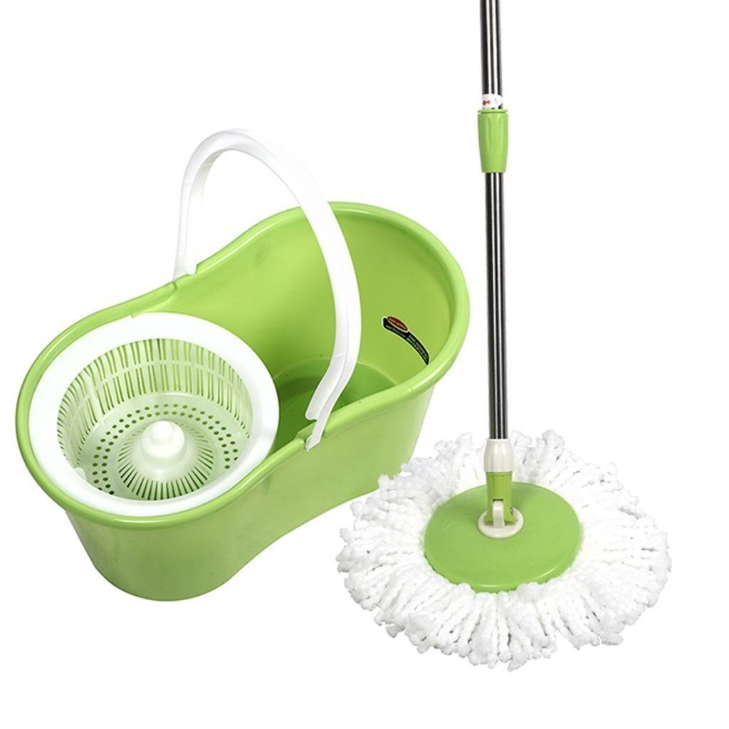 ktaxon 360 degree rotating easy magic floor mop and twist hurricane spinning dry bucket with 2 microfiber mop head 4
