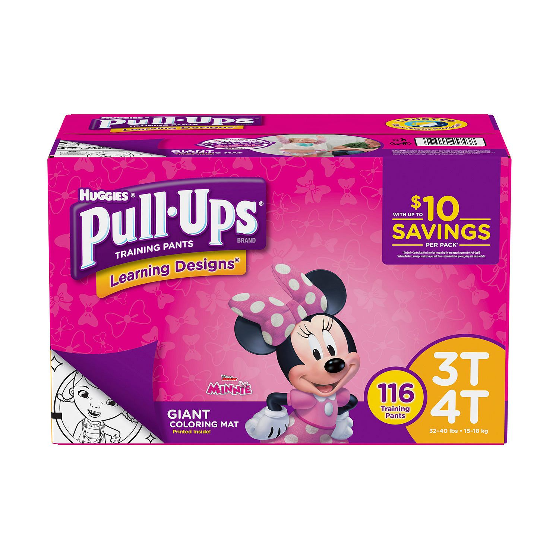 Huggies Pull-ups Training Pants for Girls 3T/4T (116 ct.)