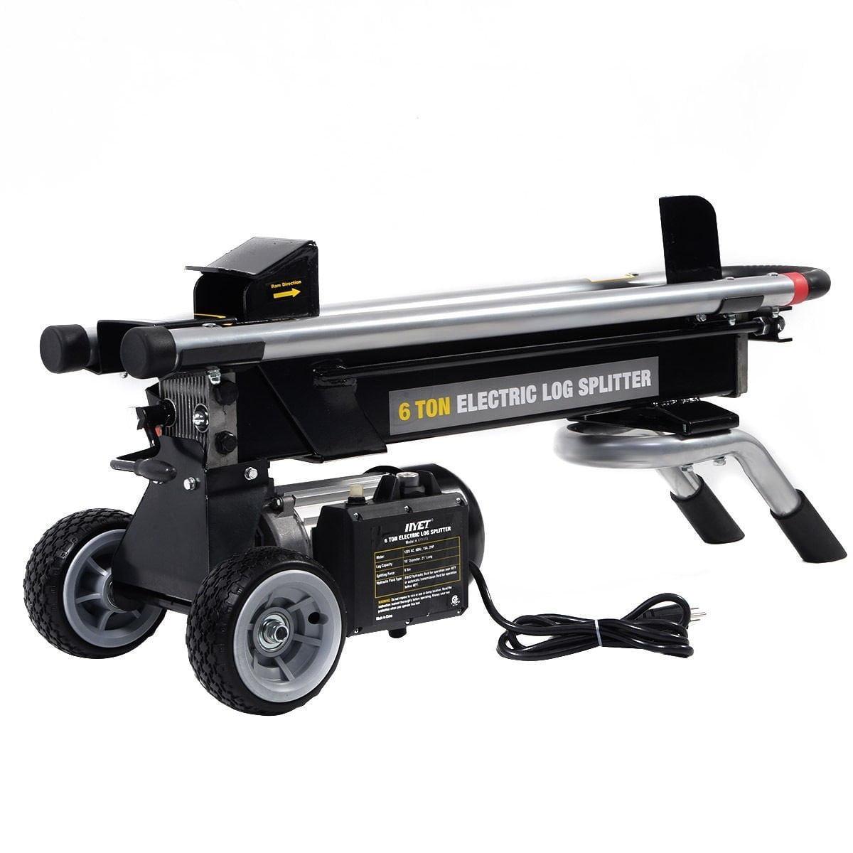 Goplus New MTN-G 1500W 6 Ton Electric Hydraulic Log Splitter Wood Portable Cutter