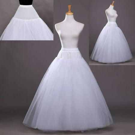 Zimtown 1 Hoop 3 Layer Bridal Bride Gowns Slip Crinoline Prom Petticoat Crinoline Long Wedding Dress Underskirt - Spirit Halloween Promo Code