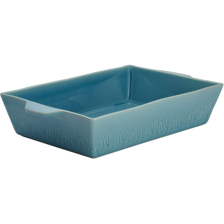 (Ayesha Curry Home Collection Stoneware Rectangular Baker, 9