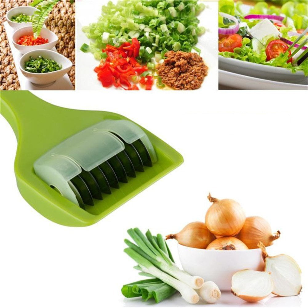Multifunction Kitchen Vegetable Dicer Cutter With 9 Sharp Stainless Steel Roller Blade For... by