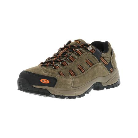 - Hi-Tec Men's Bandera Ultra Low Waterproof Smokey Brown / Light Taupe Burnt Orange Ankle-High Leather Hiking Shoe - 9M