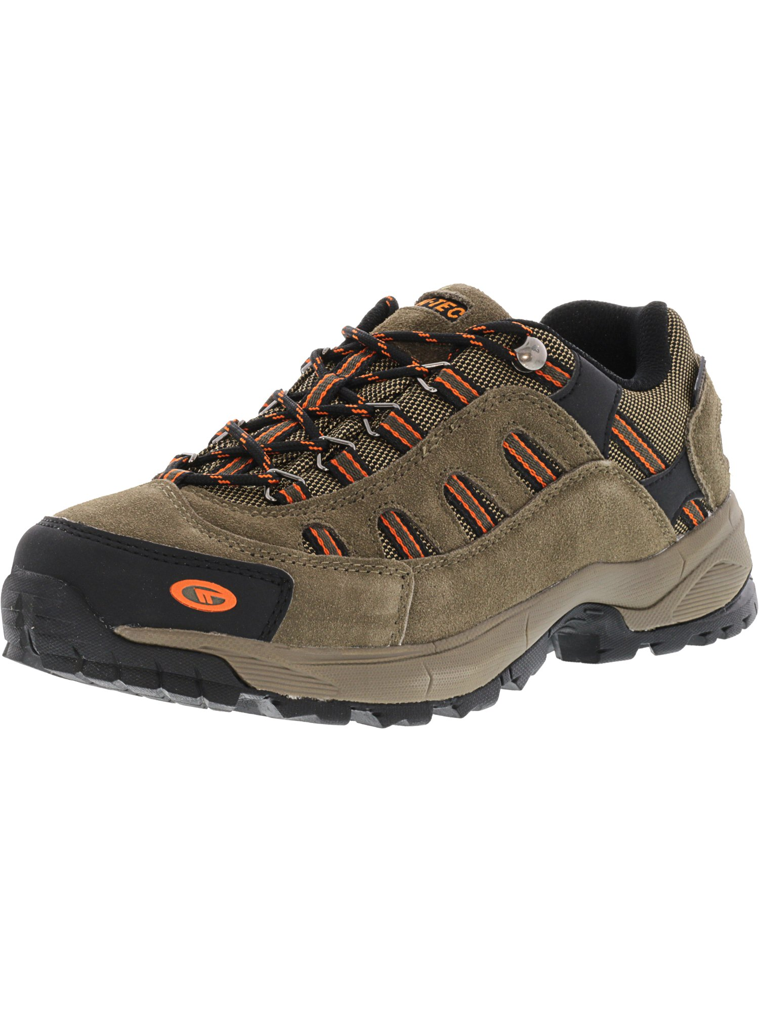 Hi-Tec Men's Bandera Ultra Low Waterproof Smokey Brown / Light Taupe Burnt Orange Ankle-High Leather Hiking Shoe - 9M