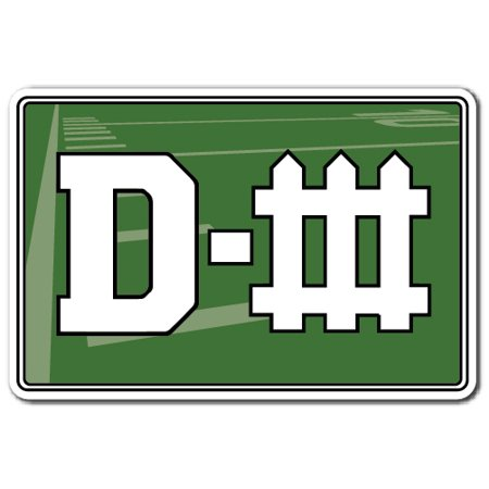 DEFENSE Decal sports game team football hockey chant yell | Indoor/Outdoor | 9